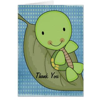 Schildkröte-danken blaue Tupfen-Babyparty Ihnen Karte