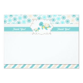 Schildkröte danken Ihnen, Anmerkungs-aquamarinen 12,7 X 17,8 Cm Einladungskarte