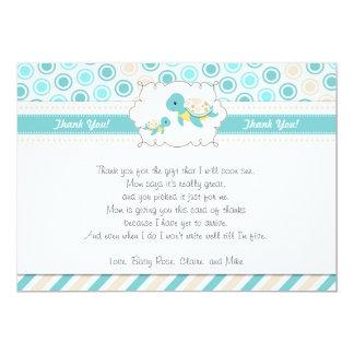 Schildkröte danken Ihnen, Anmerkungs-aquamarines 12,7 X 17,8 Cm Einladungskarte