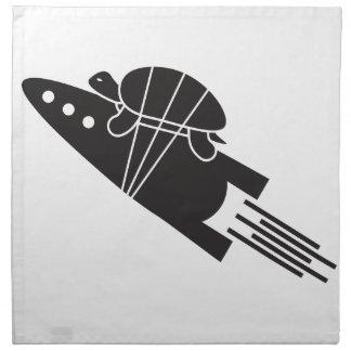 Schildkröte, die ein Rakete 🐢🚀 reitet Stoffserviette