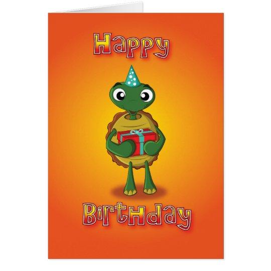 Schildkröte - Geschenk - alles Gute zum Geburtstag Grußkarte