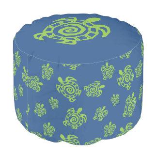 Schildkröte-grüne und blaue Grafik Hocker