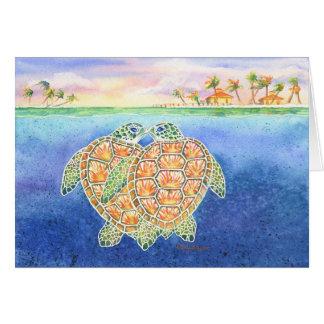 Schildkröte-Liebe Karte