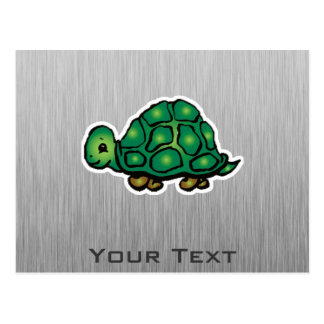 Schildkröte; Metall-Blick Postkarte