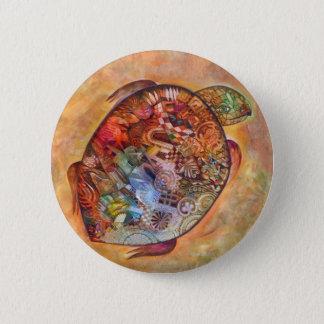 Schildkröte Runder Button 5,7 Cm