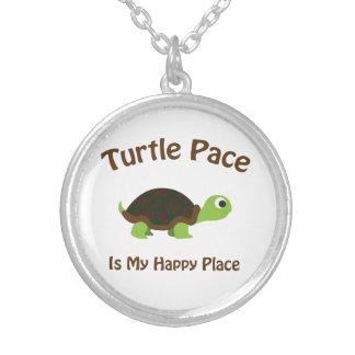 Schildkröte-Schritt Versilberte Kette