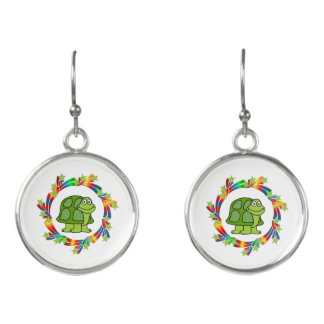 Schildkröte-Sterne Ohrringe