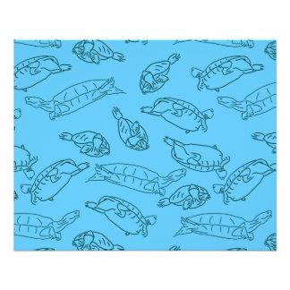 Schildkröte Zwei-Ton dünnes Papier-Massen-Kauf Flyer