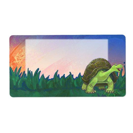 Schildkröten-Briefpapier Großer Adressaufkleber