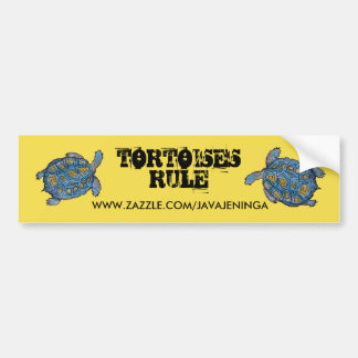 Schildkröten-Regel-Autoaufkleber Autoaufkleber