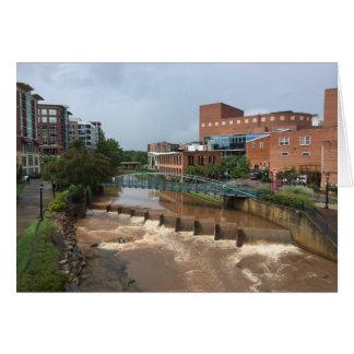 Schilfiger Fluss nach der Sturm-Anmerkungs-Karte Karte