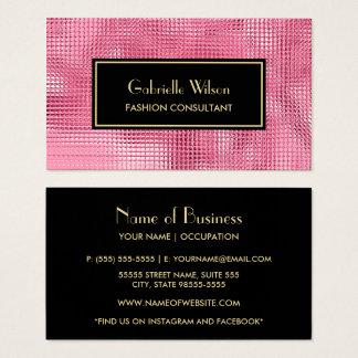 Schillernder rosa IMITAT Visitenkarte
