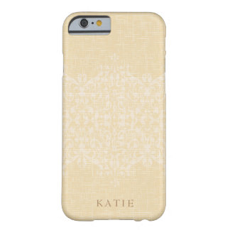 Schillerndes Gold-u. Spitze-Monogramm Barely There iPhone 6 Hülle