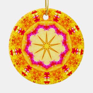 Schimmerndes Weihnachtsstern-Fraktal Keramik Ornament