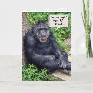 Schimpanse 77. Spaß Karte