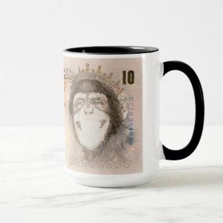 Schimpanse-Banknoten-Tasse Tasse