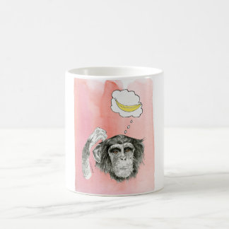 Schimpanse-Logik Kaffeetasse
