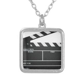 Schindelfilmschiefer-Scharnierventilfilm Halskette Mit Quadratischem Anhänger