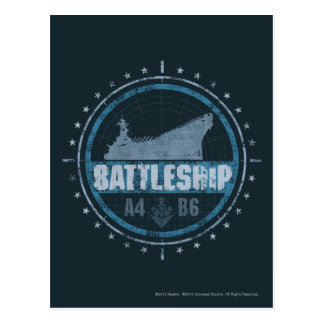 Schlachtschiff A4 B6 Postkarte
