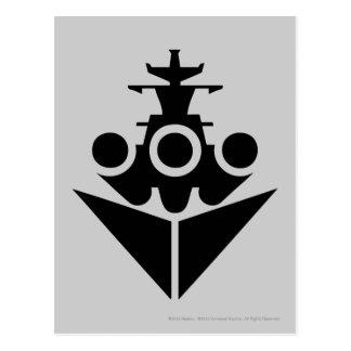 Schlachtschiff-Ikone Postkarte