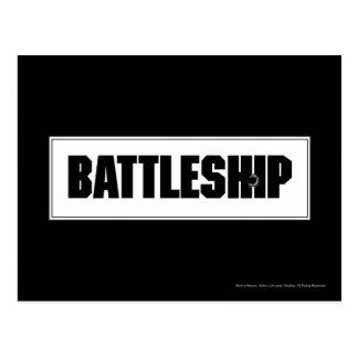 Schlachtschiff-Licht Postkarte