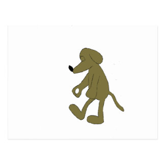 Schlaf-GehenCartoon-Jagdhund-Hund Postkarte