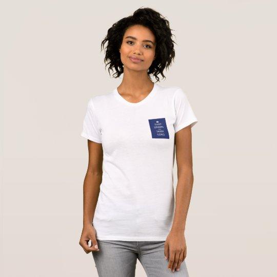 Schlaf gezeichnet und der T - Shirt langer Frauen