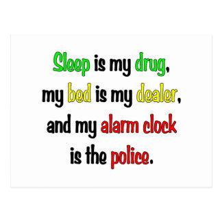 Schlaf ist meine Droge Postkarte