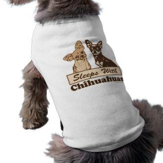 Schlaf mit Chihuahua Ärmelfreies Hunde-Shirt