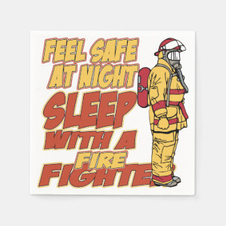 Schlaf mit einem Feuerwehrmann Servietten