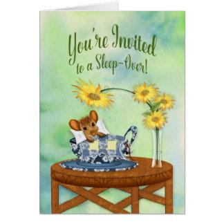 Schlaf-über Einladung - Maus beim