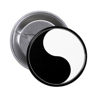 Schlaf Yin und Yang-Logo-Knopf Runder Button 5,7 Cm