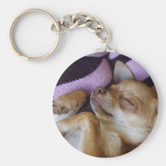 SchlafenChihuahua Schlüsselanhänger