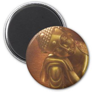 Schlafender Buddha Runder Magnet 5,7 Cm
