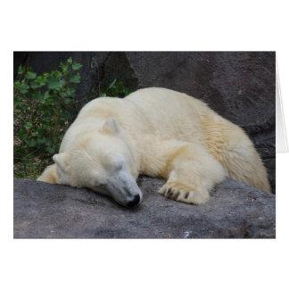Schlafender Eisbär Mitteilungskarte