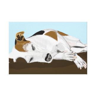 Schlafender Jack-Russell-Terrier Gespannter Galerie Druck