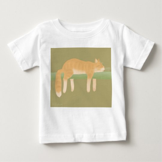 Schlafenkatzen-Baby-Geldstrafe-Jersey-T - Shirt