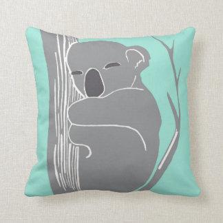 Schlafenkoala-graues und tadelloses Kissen