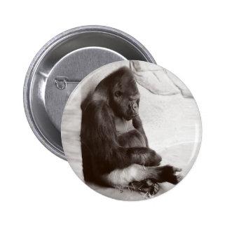 SchlafenSilverback Runder Button 5,7 Cm