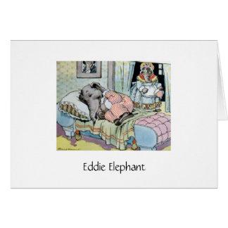 Schlafenszeit für Eddie-Elefanten (freier Raum Karte