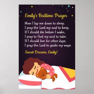 Schlafenszeit-Gebets-Plakat Poster