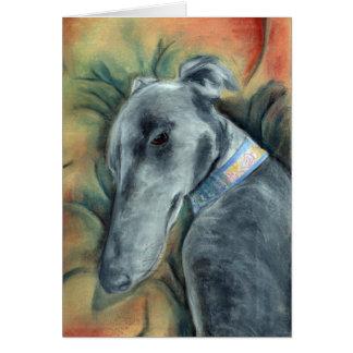 Schlafenwindhund (a392) grußkarte