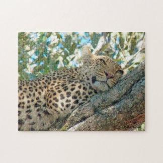 Schläfrig-Mit Augen Leopard-Puzzlespiel