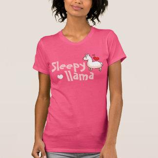 Schläfrige Lama-Pyjama-Spitze T-Shirt