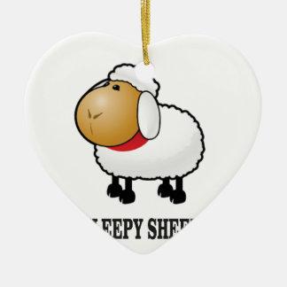 schläfrige Schafe Keramik Ornament
