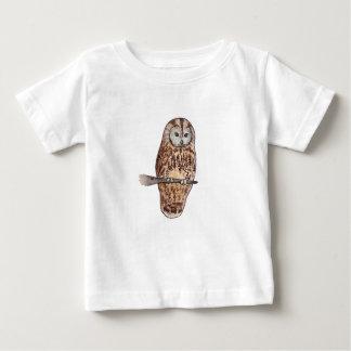 Schläfrige Tawny Eule Baby T-shirt