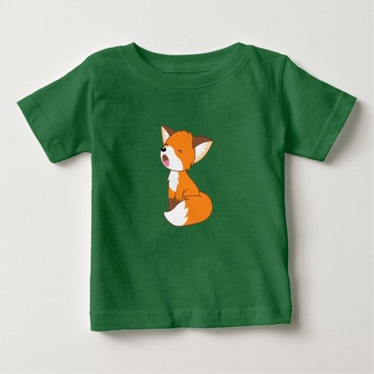 Schläfriger kleiner Fox Baby T-shirt