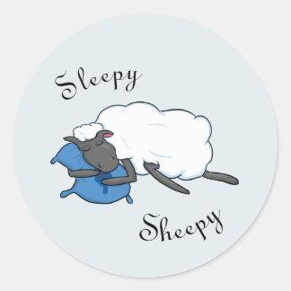 Schläfriger Sheepy Aufkleber