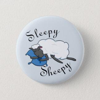 Schläfriger Sheepy Knopf Runder Button 5,7 Cm