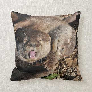 Sleepy otters photo